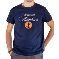 T-shirt OSS 117 Je suis une aventure bleu