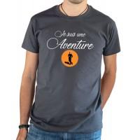 T-shirt OSS 117 Je suis une aventure gris