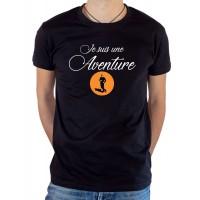 T-shirt OSS 117 Je suis une aventure noir