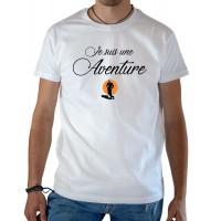 T-shirt OSS 117 Je suis une aventure blanc