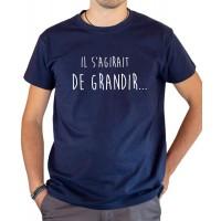 T-shirt OSS 117 Il s'agirait de grandir bleu