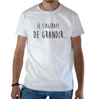T-shirt OSS 117 Il s'agirait de grandir blanc