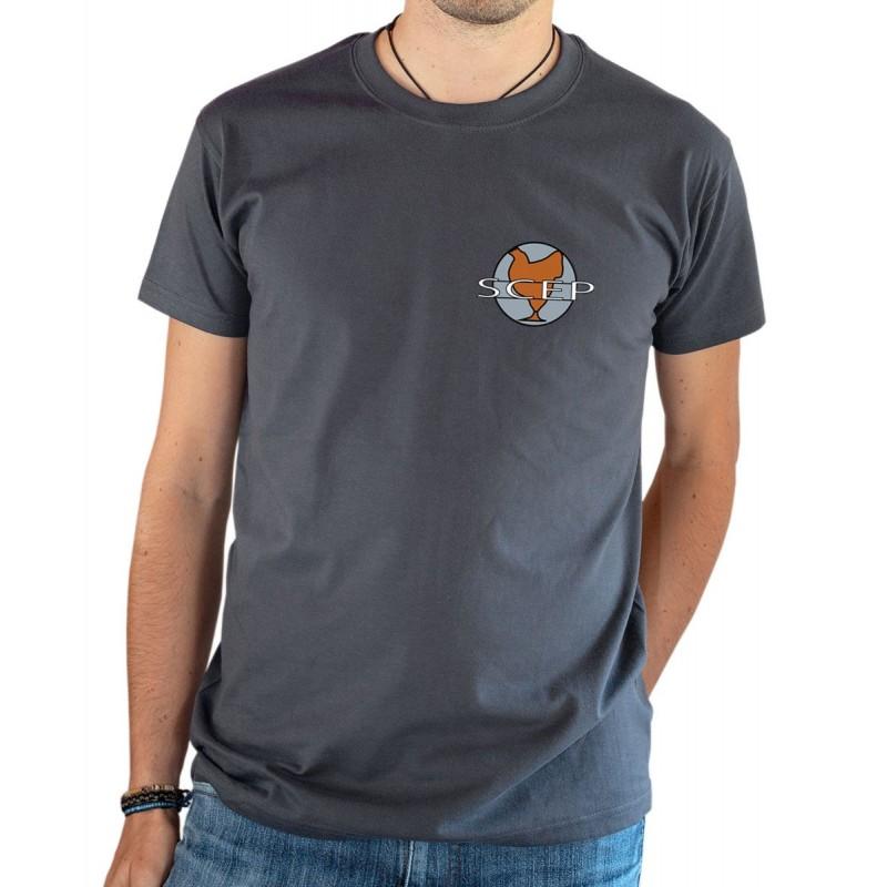 T-shirt OSS 117 SCEP logo gris