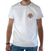 T-shirt OSS 117 SCEP logo blanc