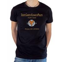 T-shirt OSS 117 Société Cairote d'Élevage de Poulets noir