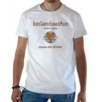 T-shirt OSS 117 Société Cairote d'Élevage de Poulets blanc