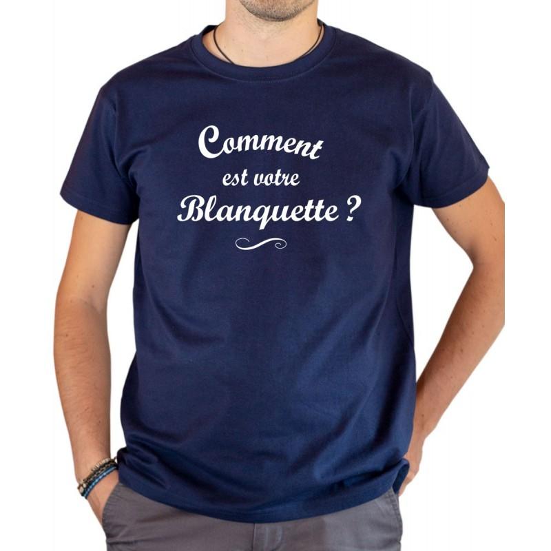 T-shirt OSS 117 Comment est votre blanquette bleu