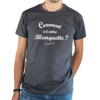 T-shirt OSS 117 Comment est votre blanquette gris