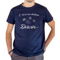 T-shirt OSS 117 C'est ça une dictature Dolorès bleu