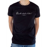 T-shirt OSS 117 Quelle drôle d'idée noir
