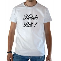 T-shirt OSS 117 Habile Bill blanc
