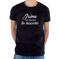T-shirt OSS 117 J'aime me beurrer la biscotte noir