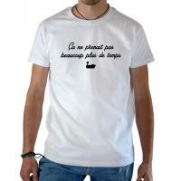 T-shirt OSS 117 pedalo canard ça ne prenait pas beaucoup plus de temps blanc