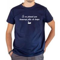 T-shirt OSS 117 pedalo canard ça ne prenait pas beaucoup plus de temps bleu