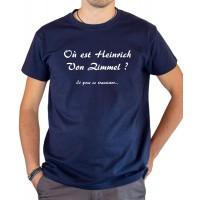 T-shirt OSS 117 Où est Heinrich Von Zimmel transistor bleu