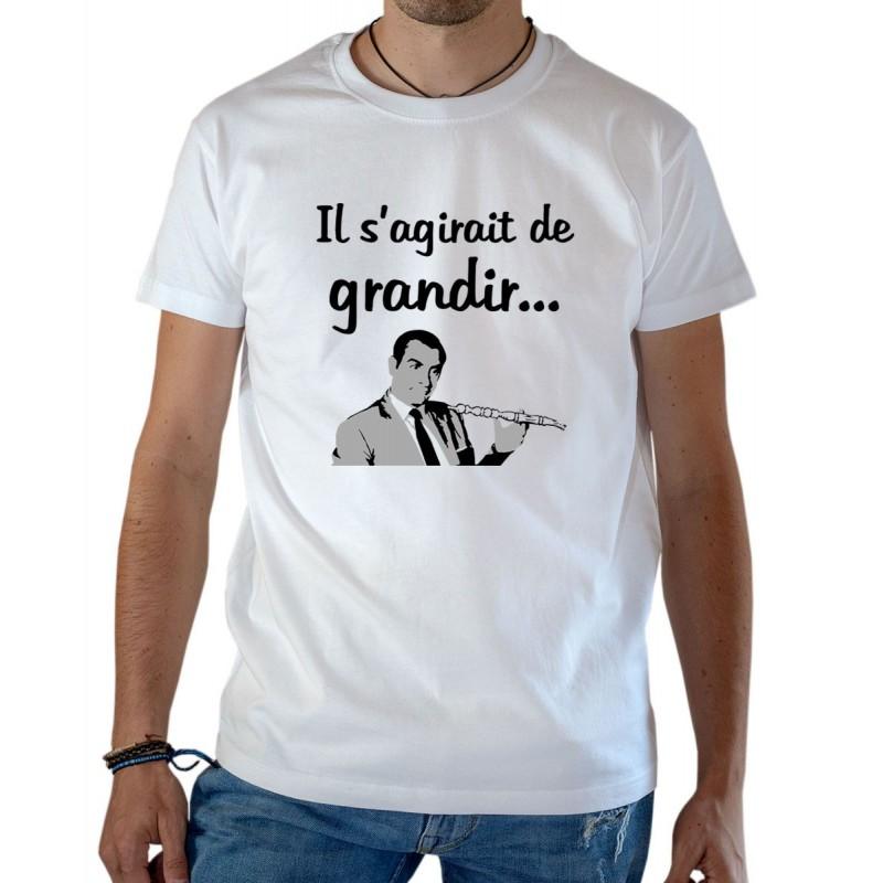T-shirt OSS 117 Il s'agirait de grandir Hubert Bonisseur de la Bath narguilé