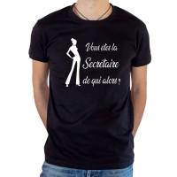 T-shirt OSS 117 Vous êtes la secrétaire de qui alors noir