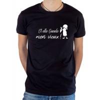 T-shirt OSS 117 Et elle gueule mon vieux poissonnière de Ménilmontant noir