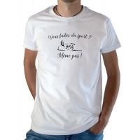 T-shirt OSS 117 Vous faites du sport ? Même pas !