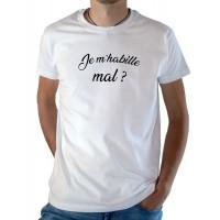 T-shirt OSS 117 Je m'habille mal ? blanc