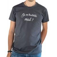 T-shirt OSS 117 Je m'habille mal ? gris