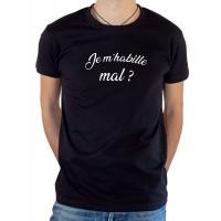 T-shirt OSS 117 Je m'habille mal ? noir