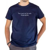 T-shirt OSS 117 Vous jouez sur les mots Dolorès. bleu