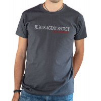 T-shirt OSS 117 Je suis agent secret gris