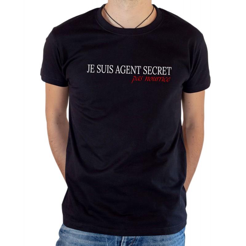 T-shirt OSS 117 Je suis agent secret noir