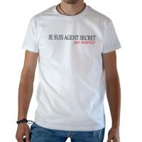 T-shirt OSS 117 Je suis agent secret blanc