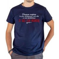 T-shirt OSS 117 Je suis leur prédateur bleu