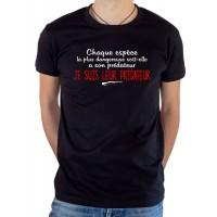 T-shirt OSS 117 Je suis leur prédateur noir