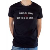 T-shirt OSS 117 J'aurais dû prendre mon slip de bain noir