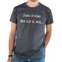 T-shirt OSS 117 J'aurais dû prendre mon slip de bain gris