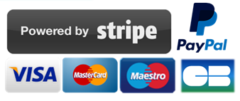 Logo paiements securisés Stripe CB Visa MasterCard